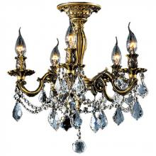 Worldwide Lighting Corp W33304B18 - Windsor Collection 5 Light Antique Bronze Finish with Clear Crystal Ceiling Light