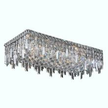 Worldwide Lighting Corp W33630C24 - Cascade Collection 6 Light Chrome Finish with Clear Crystal Ceiling Light