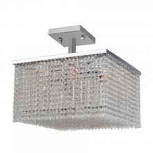 Worldwide Lighting Corp W33734C16 - Prism Collection 9 Light Chrome Finish with Clear Crystal Ceiling Light