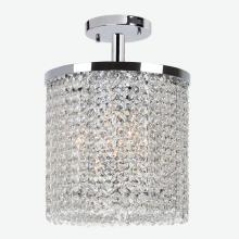 Worldwide Lighting Corp W33744C10 - Prism Collection 3 Light Chrome Finish with Clear Crystal Ceiling Light