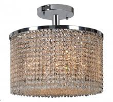 Worldwide Lighting Corp W33745C16 - Prism Collection 7 Light Chrome Finish with Clear Crystal Ceiling Light