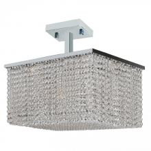 Worldwide Lighting Corp W33755C20 - Prism Collection 8 Light Chrome Finish with Clear Crystal Ceiling Light