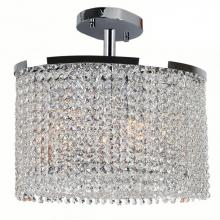 Worldwide Lighting Corp W33763C16 - Prism Collection 4 Light Chrome Finish with Clear Crystal Ceiling Light