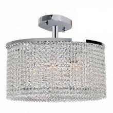 Worldwide Lighting Corp W33764C20 - Prism Collection 7 Light Chrome Finish with Clear Crystal Ceiling Light
