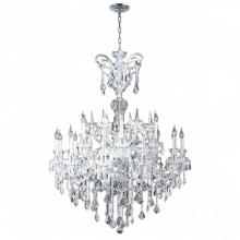 Worldwide Lighting Corp W83079C48 - Maria Theresa Collection 18 Light Chrome Finish with Clear Crystal Chandelier
