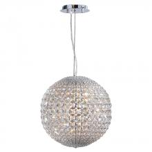 Worldwide Lighting Corp W83902C15-G9 - Pluto Collection 8 Light Chrome Finish with Clear Crystal Pendant