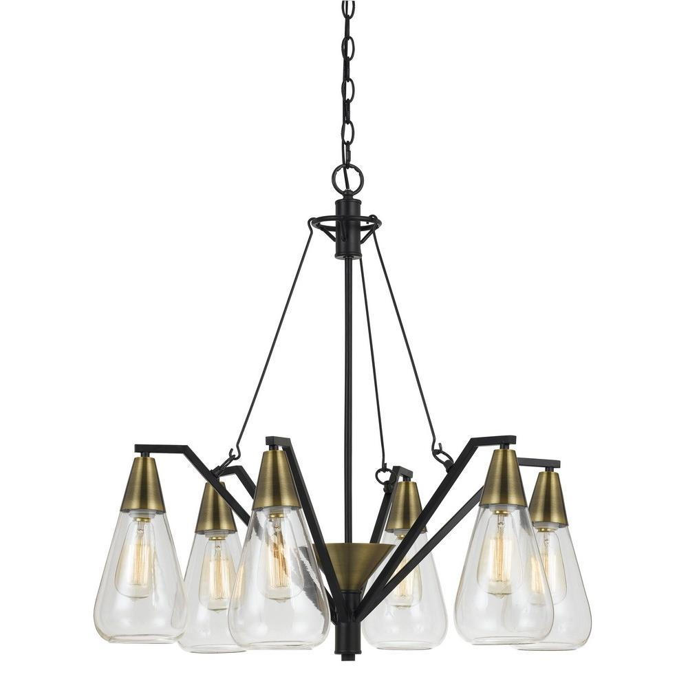 Champions Lighting in Houston, Texas, United States,  C45WK, 60W X 6 ELLYN GLASS CHANDELIER, 60W X 6 Ellyn Glass Chandelier