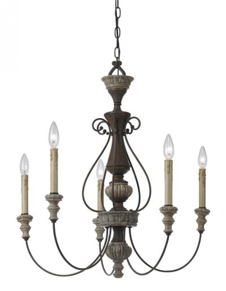 Champions Lighting in Houston, Texas, United States,  AXYLG, 5 LTG WILLIAMS METAL CHANDELIER, Williams Metal Chandelier
