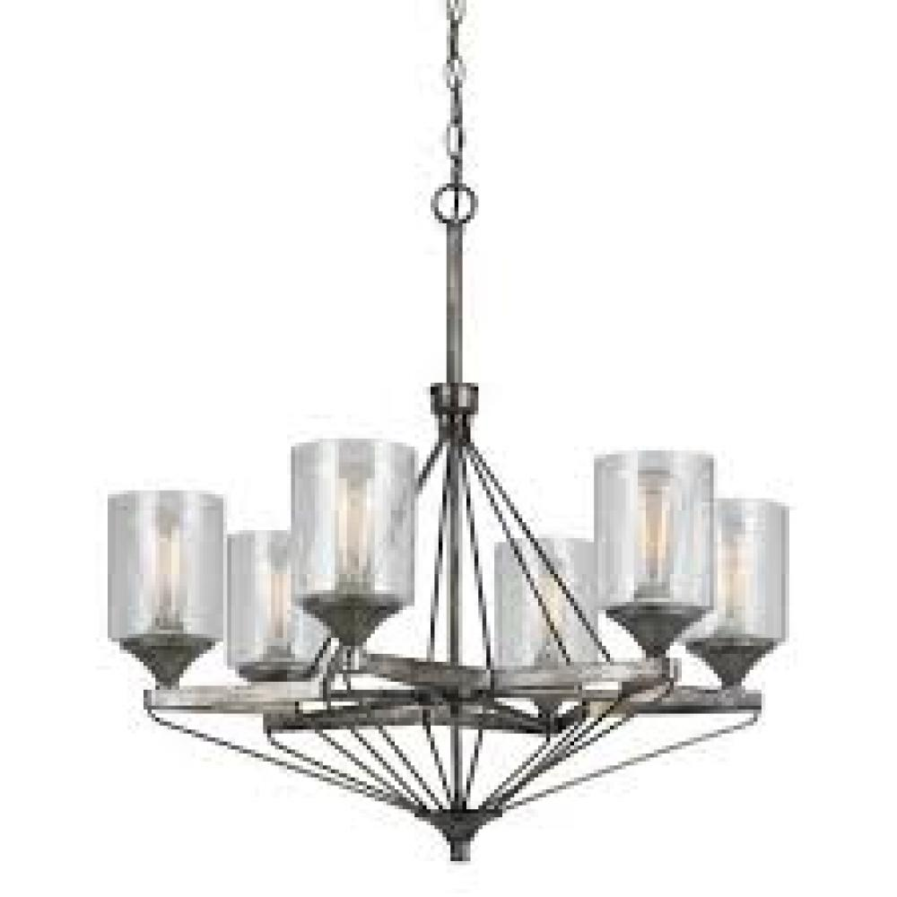 Champions Lighting in Houston, Texas, United States,  AXYLN, 6 LIGHTS CRESCO METAL CHANDELIER,