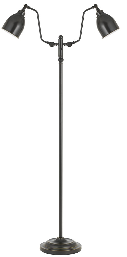 Champions Lighting in Houston, Texas, United States,  C73L1, 60W x 2 dual light pharmacy floor lamp with metal shade, Pharmacy Floor Lamp