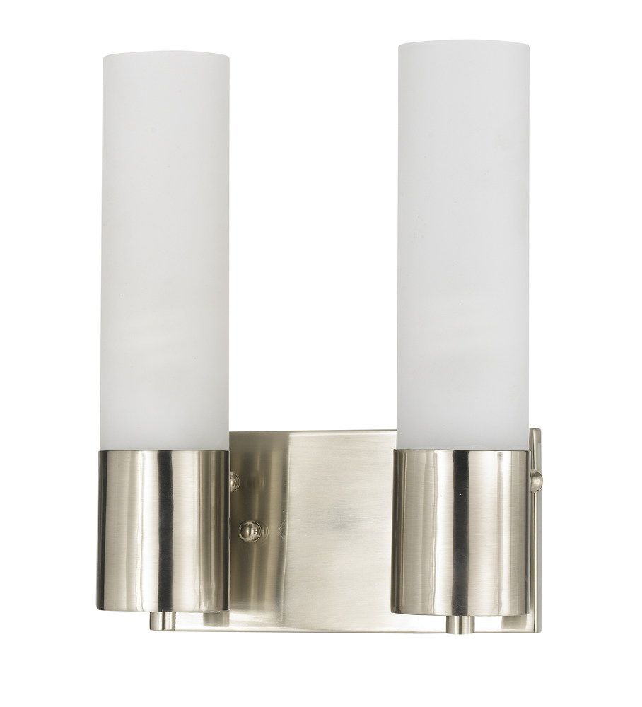 Champions Lighting in Houston, Texas, United States,  19Z6U, 2X23W, GU24, GLASS WALL LAMP, Double Glass Cylinder Wall Light