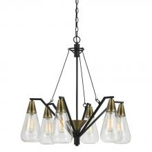 CAL Lighting FX-3623-6 - 60W X 6 ELLYN GLASS CHANDELIER