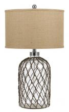 CAL Lighting BO-2463TB - 150W JUPITER GLASS TABLE LAMP