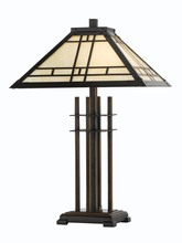 CAL Lighting BO-2097TB - 60W X 2 MISSION TIFFANY TABLE LAMP