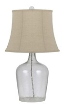 CAL Lighting BO-2455TB - 150W 3WAY GLASS TABLE LAMP