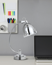 CAL Lighting BO-2688DK - 60W Hubble metal adjustable desk lamp in chrome with turn base switch