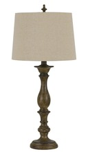 CAL Lighting BO-2710TB-2 - 150W 3 way Harrow resin table lamp. Sold and Priced in pairs
