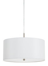 CAL Lighting FX-3629-1P - 60WX3 ADDISON FAUX SILK DRUM PENDAN