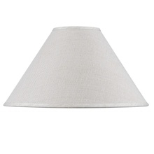 CAL Lighting SH-8110-15 - Hardback fine burlap shade