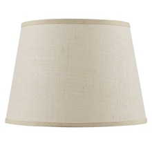 CAL Lighting SH-8111-17 - Hardback fine burlap shade