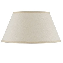 CAL Lighting SH-8111-18M - Hardback fine burlap shade