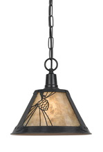 CAL Lighting UP-1107/6-RU - 60W MICA PINECONE METAL PENDANT