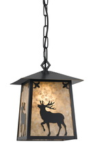 CAL Lighting UP-1108/6-DB - 60W ELK MICA METAL PENDANT