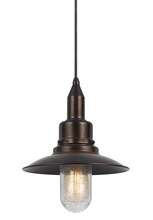 CAL Lighting UP-1114-6-RU - 60W PATERSON METAL PENDANT
