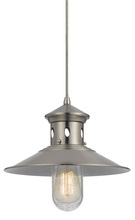 CAL Lighting UP-1115-6-BS - 60W BINGHAMTON METAL PENDANT