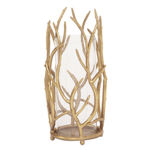 Howard Elliott 11244 - Gold Branches Hurricane Candleholder - Large