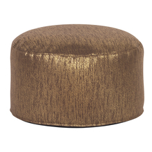 Howard Elliott 871-293 - Foot Pouf Glam Chocolate -Howard Elliott