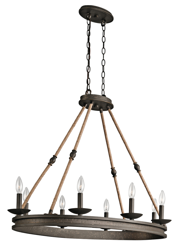 Oval Chandelier 8Lt
