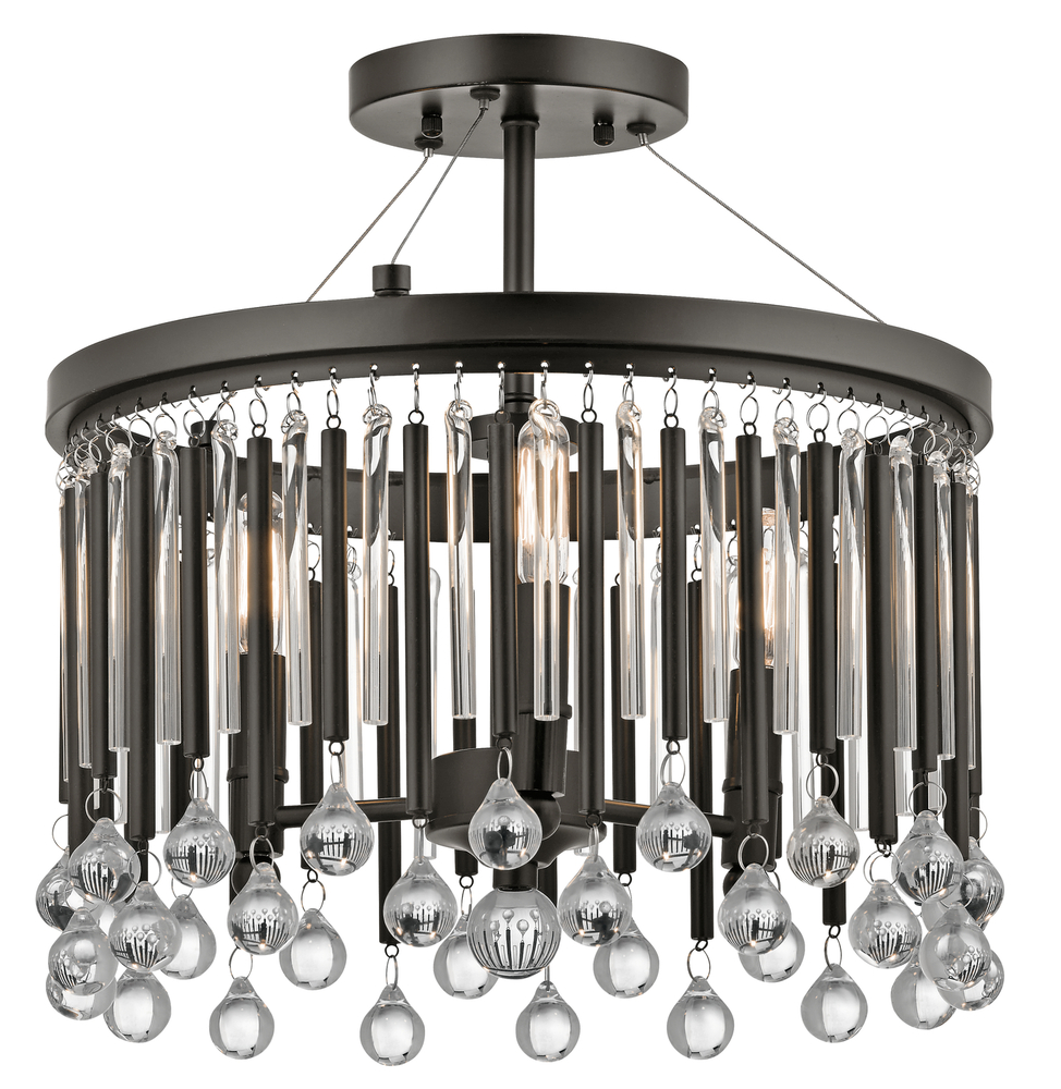 Champions Lighting in Houston, Texas, United States,  LR3Y6, Semi Flush 3Lt, Piper