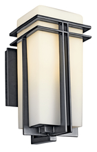 Kichler 49201BKFL - Outdoor Wall 1Lt Fluorescent