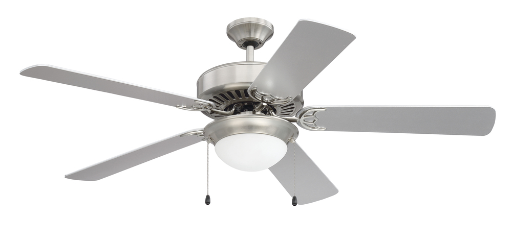 "Pro Energy Star 209 52"" Ceiling Fan in Brushed Polished Nickel (Blades Sold Separately)"