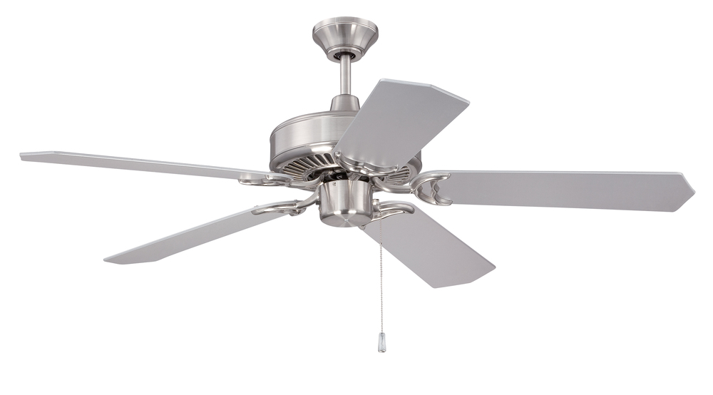 "Pro Energy Star 52"" Ceiling Fan in Brushed Polished Nickel (Blades Sold Separately)"