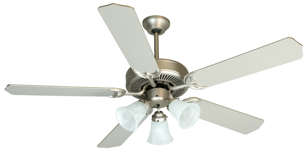 "Pro Builder 205 52"" Ceiling Fan Kit with Light Kit in Brushed Satin Nickel"