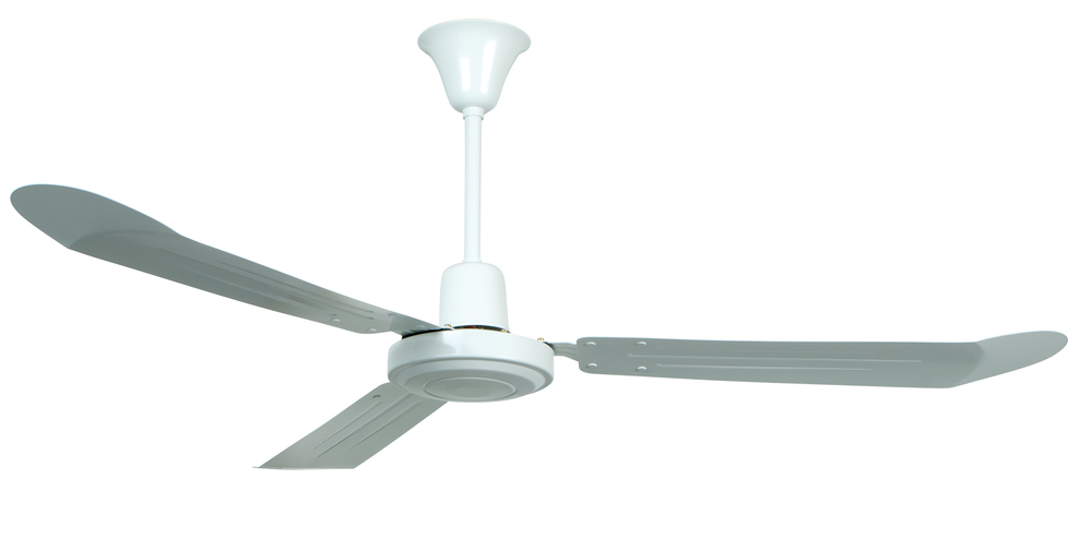"Champions Lighting in Houston, Texas, United States,  9K14A, Utility 56"" Ceiling Fan with Blades in White, Utility"