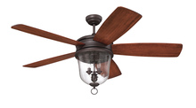 "Craftmade FB60OBG5 - Fredericksburg 60"" Ceiling Fan with Blades and Light in Oiled Bronze Gilded"