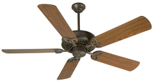 "Craftmade K10601 - American Tradition 52"" Ceiling Fan Kit in Aged Bronze Textured"