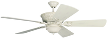 "Craftmade K11247 - Pavilion 52"" Ceiling Fan Kit in Antique White Distressed"