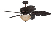 "Craftmade PAP52ABZ5RCDI - Pineapple 52"" Ceiling Fan with Blades in Aged Bronze Brushed"