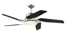 "Craftmade SOE54CH5 - Solo Encore 54"" Ceiling Fan with Blades and LED Light Kit in Chrome"