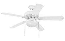 "Craftmade WOD52WW5PC1 - Cove Harbor with Light Kit 52"" Ceiling Fan with Blades and Light in White"