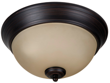 "Craftmade XP11ABZ-2A - Pro Builder 2 Light 11"" Flushmount in Aged Bronze Brushed"