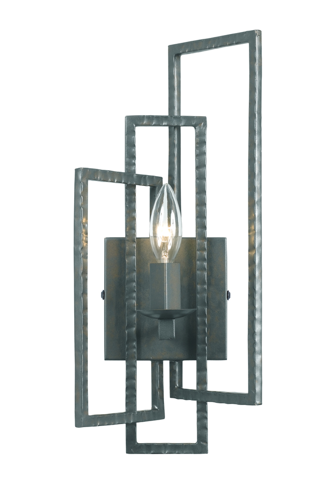 Champions Lighting in Houston, Texas, United States,  2GUF4, Crystorama Capri 1 Light Gray Sconce, Capri