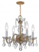 Crystorama 1064-PB-CL-MWP - Crystorama Traditional Crystal 4 Light Clear Crystal Brass Mini Chandelier I