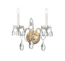 Crystorama 1122-CH-CL-MWP - Crystorama Traditional Crystal 2 Light Clear Crystal Chrome Sconce II
