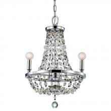 Crystorama 1543-CB-MWP - Crystorama Channing 3 Light Bronze Mini Chandelier