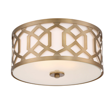 Crystorama 2263-AG - Libby Langdon for Crystorama Jennings 3 Light Aged Brass Ceiling Mount